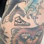 Air Jordan tattoo by @themagicrosa