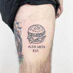 Alea iacta est tattoo by @themagicrosa