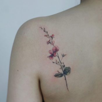 Bean flower by @tattooist_flower
