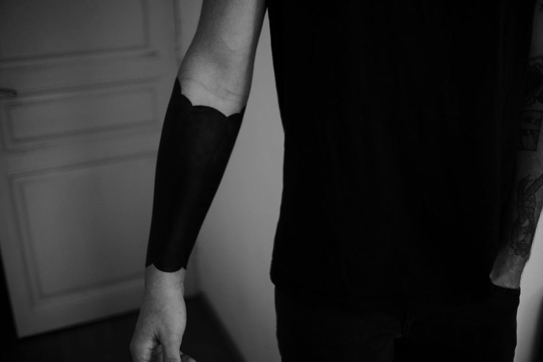 Blackout tattoo by @nancydestroyer