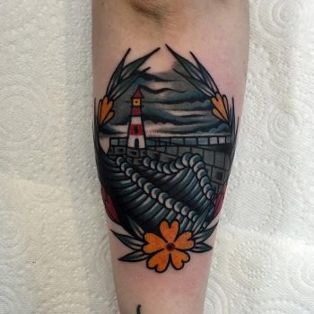 Bleak harbour tattoo by @lukejinks