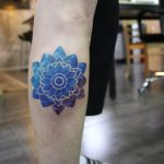 Blue-ish mandala by @polyc_sj