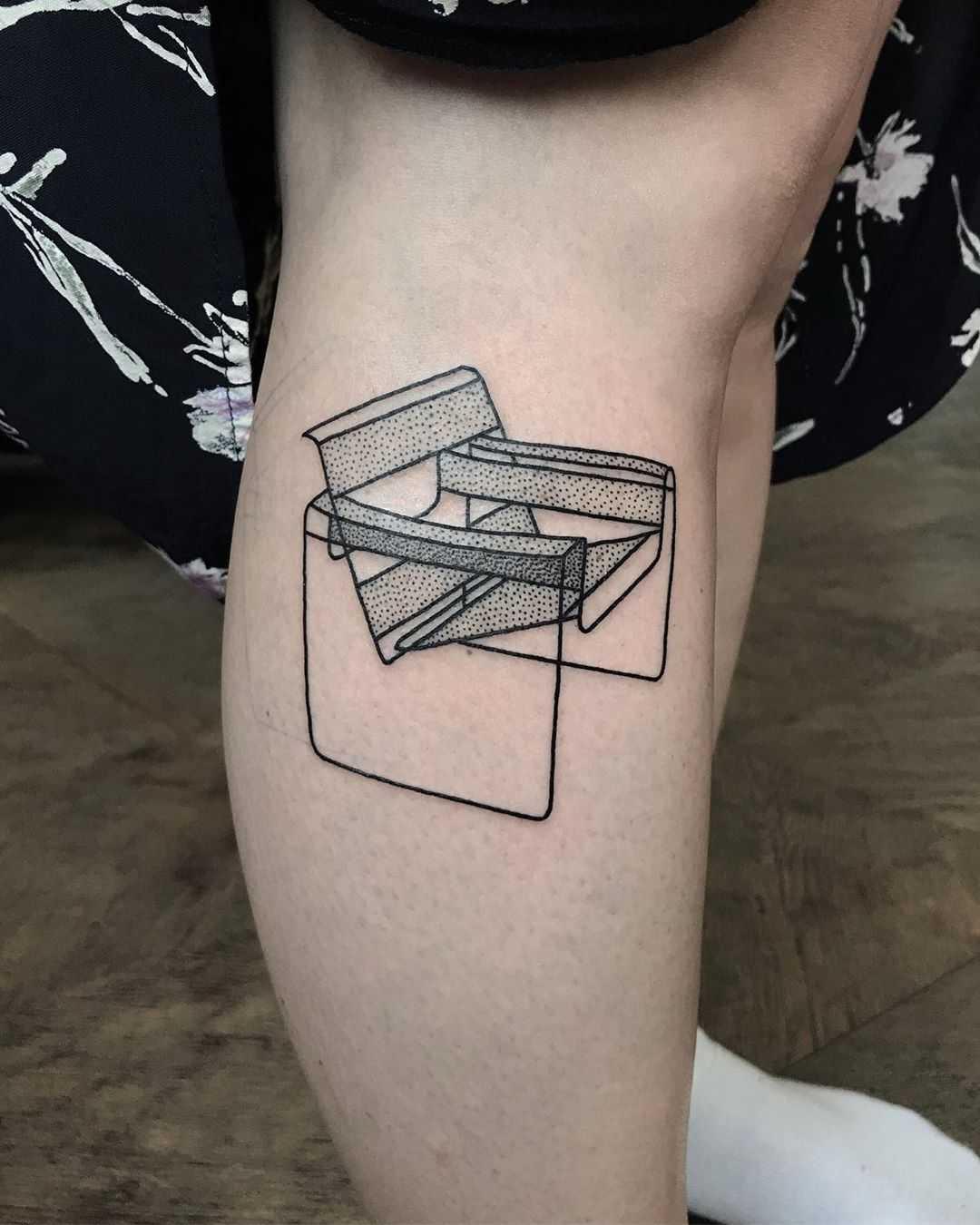Breuer's Wassily Chair tattoo by @skrzyniarz_