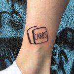 Carbs tattoo by @gekku