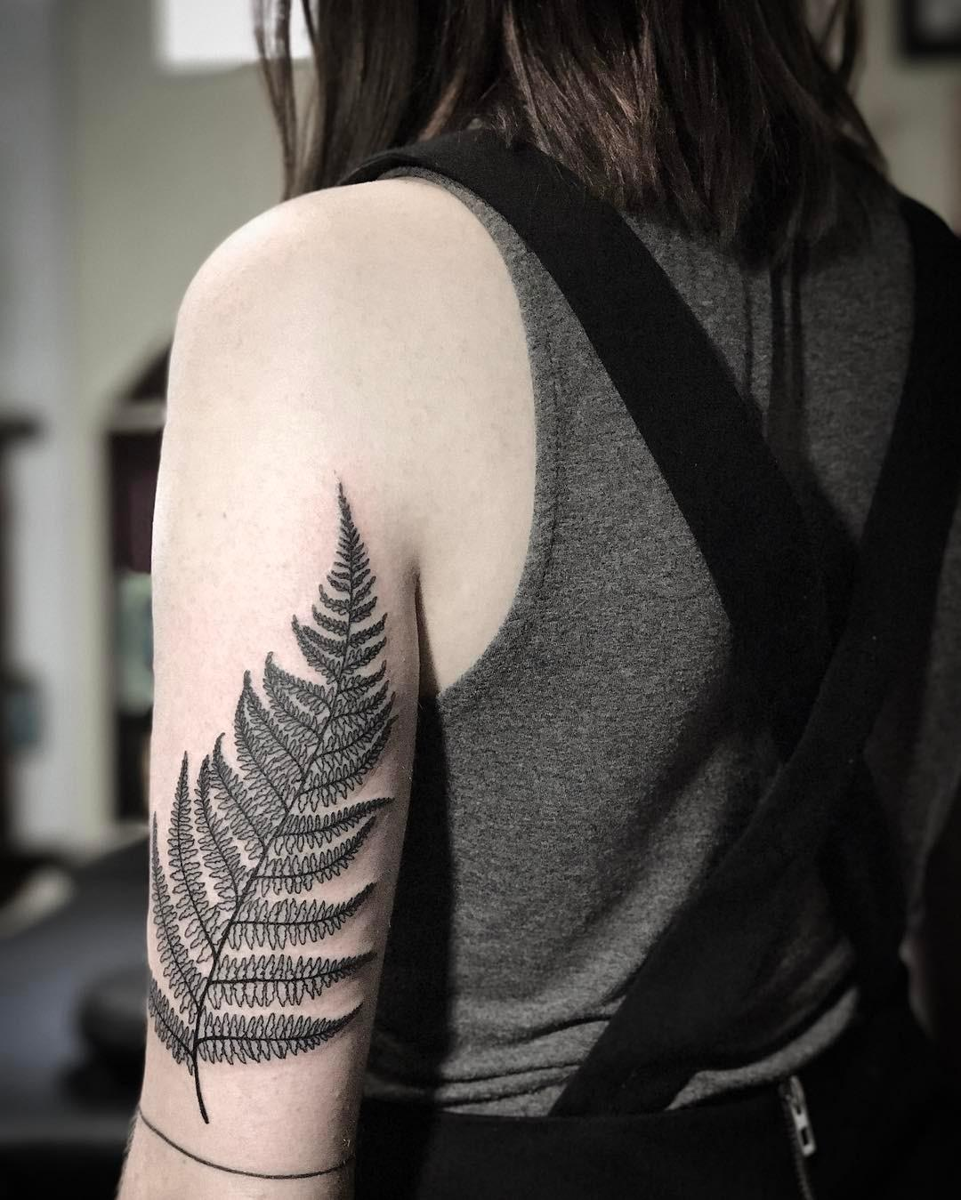 Fern on the left arm by @patcrump