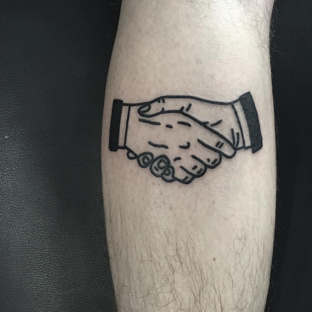 Firm handshake by @hanaroshinko