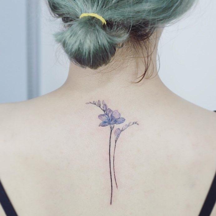 Freesia flowers by @tattooist_flower