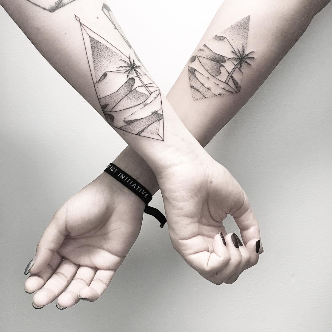 Friendship tattoos by @mariafernandeztattoo