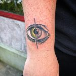 Half color half linework eye by @patcrump