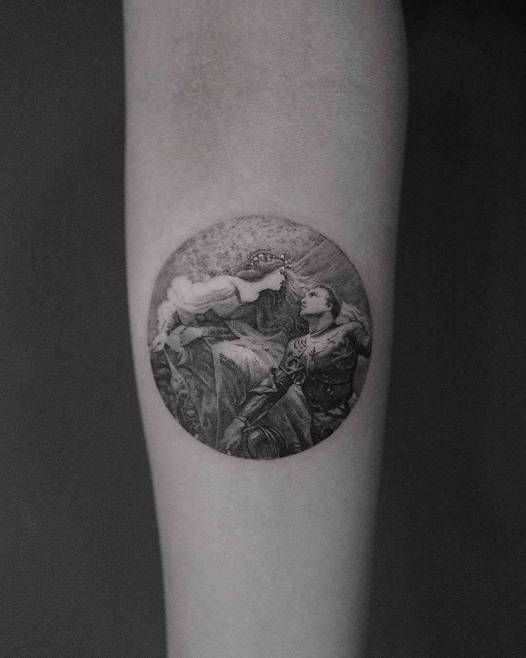La Belle Dame Sans Merci tattoo @coldgraytattoo