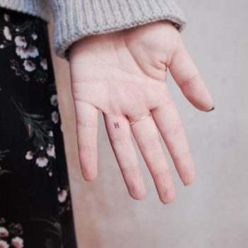 Letter H by @wittybutton_tattoo