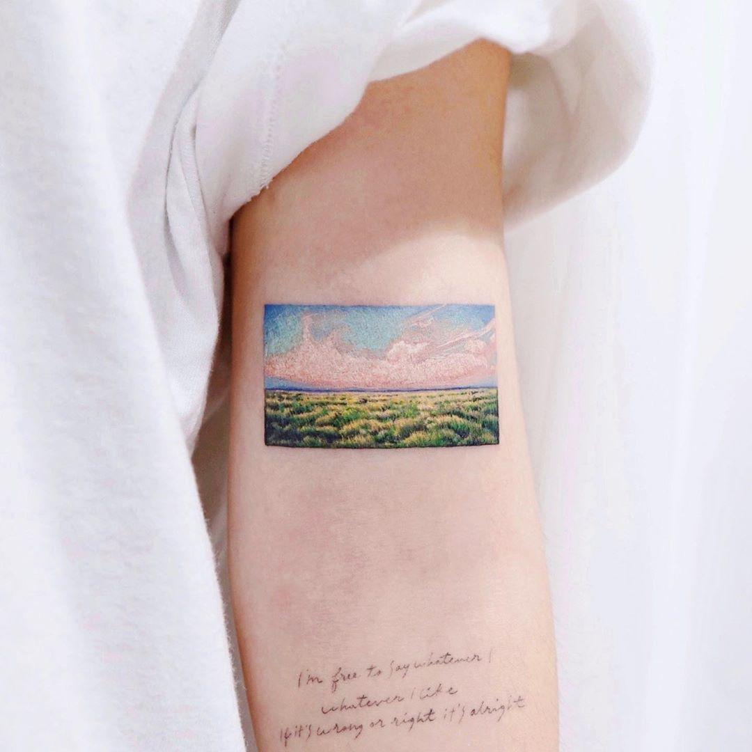 Lovely landscape by @vane.tattoo_