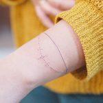 Minimalist bracelet by @wittybutton_tattoo