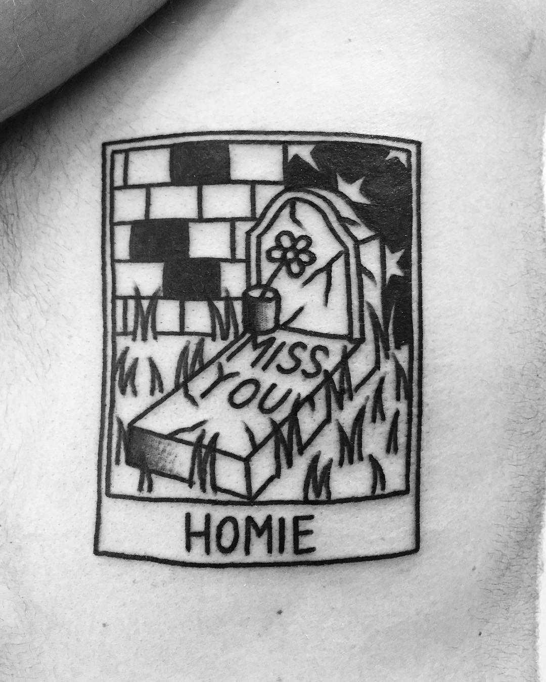 Miss you homie by @themagicrosa