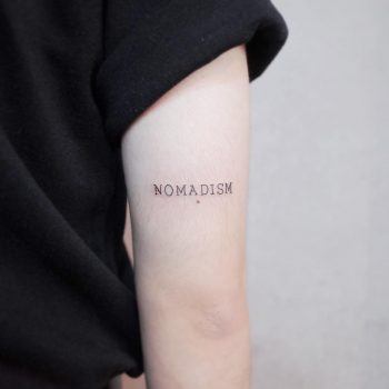 Nomadism tattoo by @wittybutton_tattoo