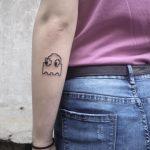 Pacman tattoo by @skrzyniarz_