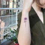 Purple rose by @tattooist_flower