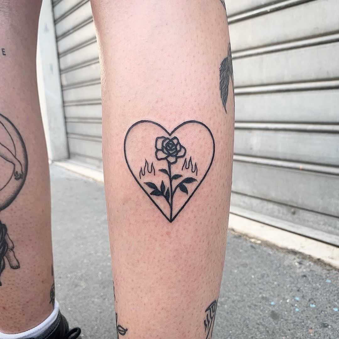 Rose in a heart by @themagicrosa