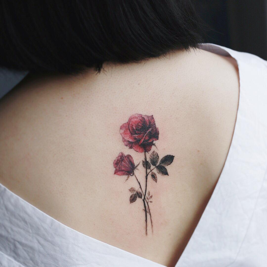Roses on a back by @tattooist_flower