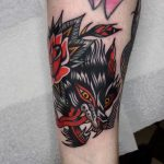 Rosey wolf by @lukejinks