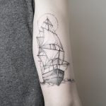 Ship by @mariafernandeztattoo