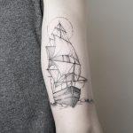 Ship by @mariafernandeztattoo