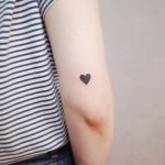 Simple black heart by @wittybutton_tattoo