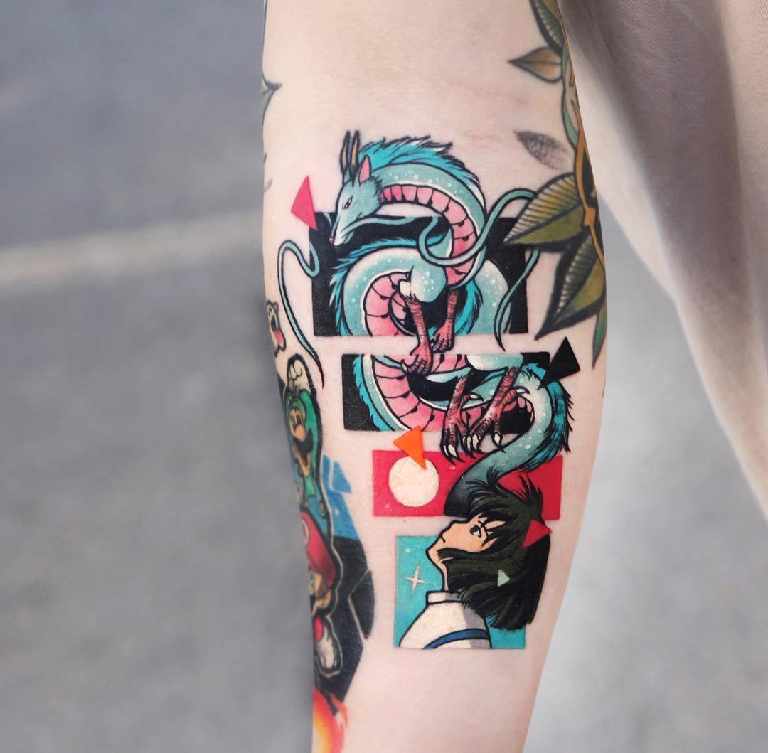 Spiritedaway Haku By Polyc Sj Tattoogrid Net