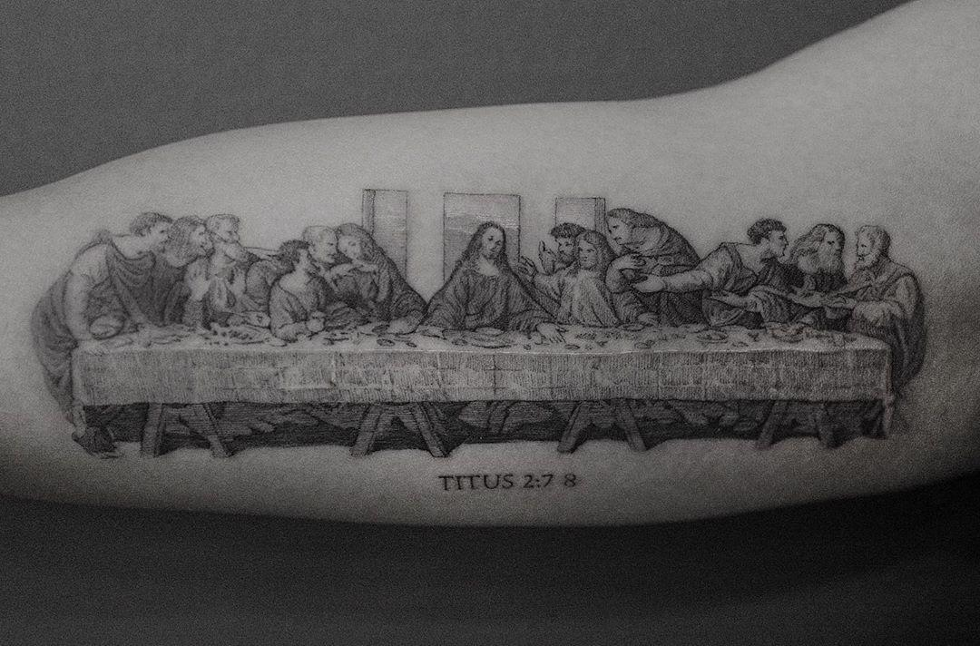 The Last Supper tattoo by @coldgraytattoo