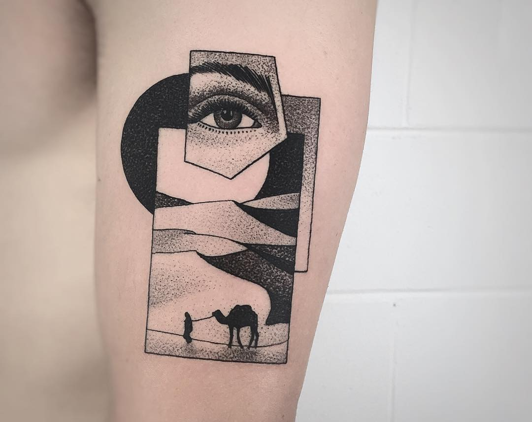 The Woman in the Dunes tattoo by @charley_gerardin