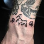 Tiny Egyptian llama and flowers by @ryanjessiman