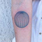 Torquise sphere tattoo by Dane Nicklas