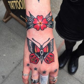 Traditional butterfly by @lukejinks