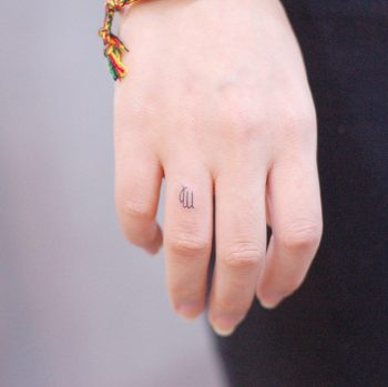 Virgo tattoo by @wittybutton_tattoo