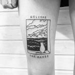 Welcome the waves by @alexbergertattoo