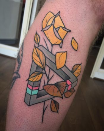 Yellow rose and Penrose triangle by @pau1terry_