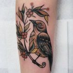 Barry the fledgling tattoo by @rabtattoo