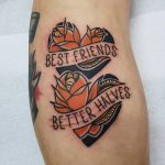 Best friends Better halves tattoo by @rabtattoo