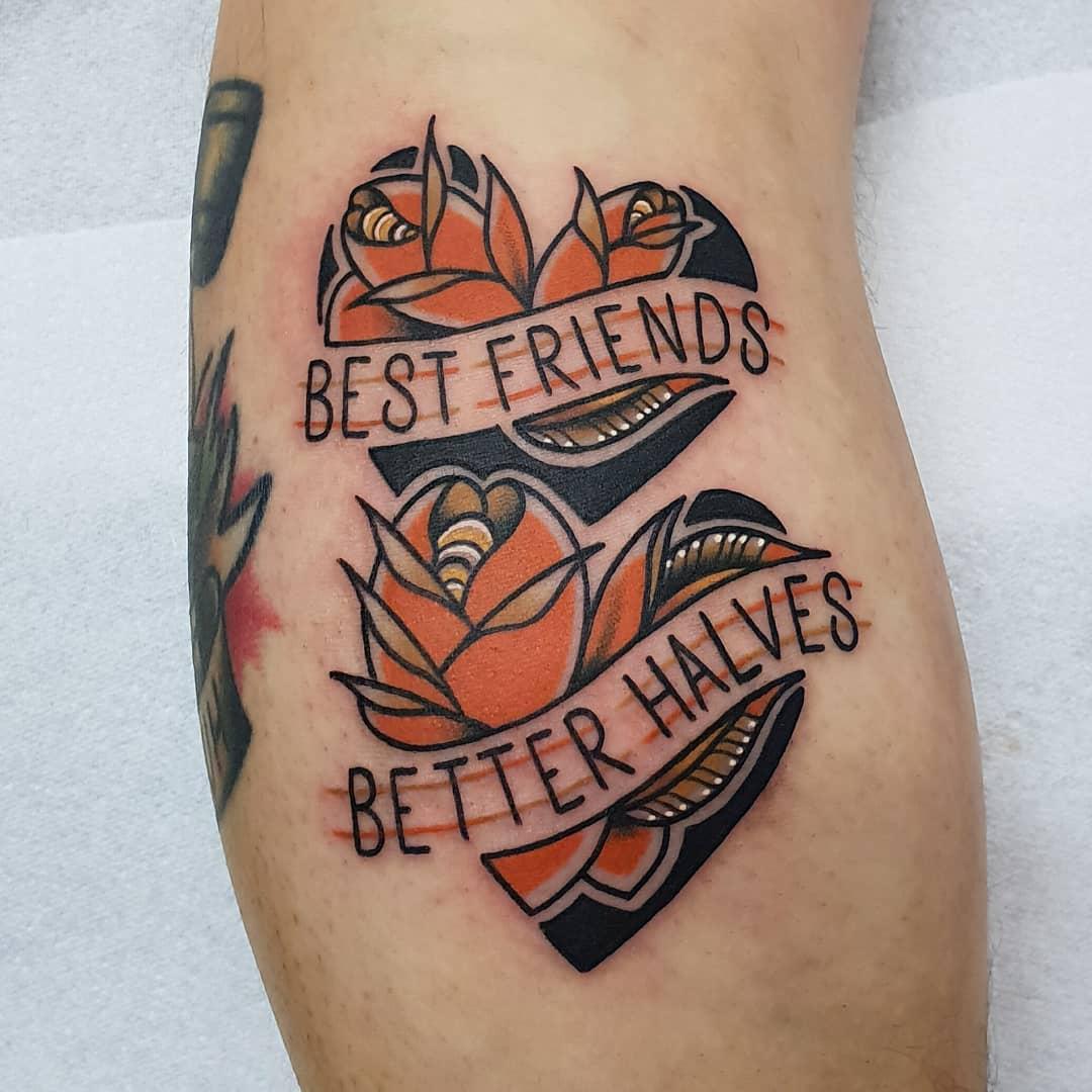Best friends Better halves tattoo by @rabtattoo