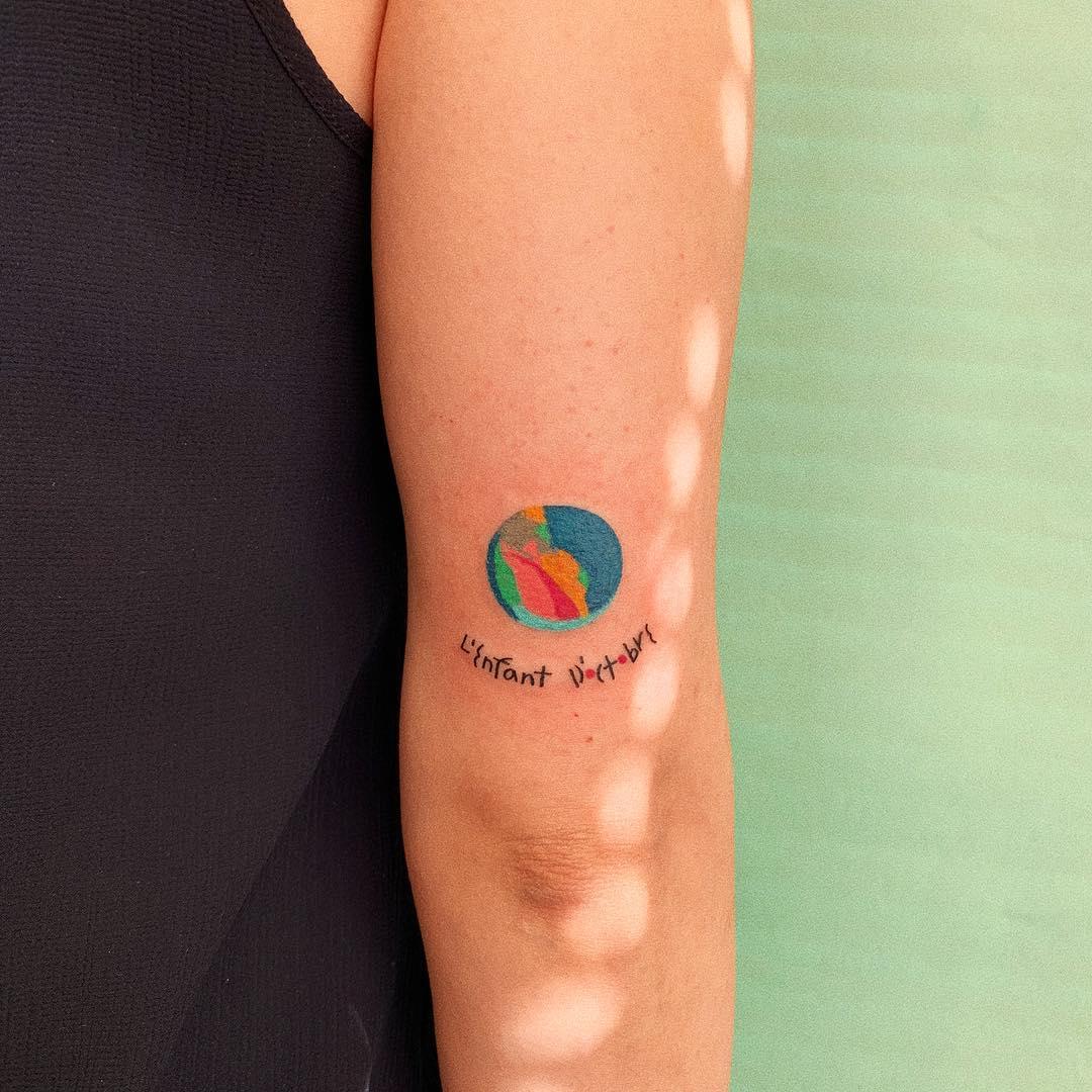 Birthstone tattoo by @takemymuse