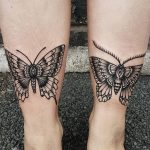 Butterfly and Moth by @rabtattoo
