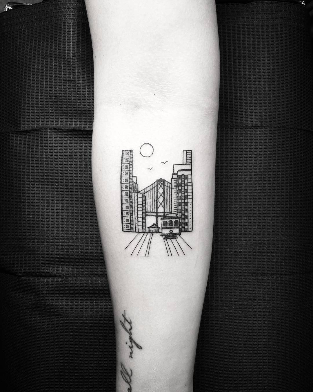 Cityscape by @thomasetattoos