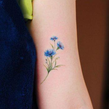 Cornflower by @vane.tattoo_