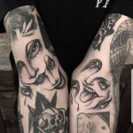 Creepy faces by @thomasetattoos