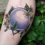 Crystal ball witch hazel by @lindseebeetattoo