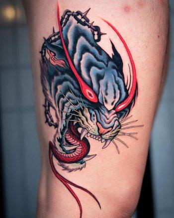 Devil tiger by @jin_qchoi