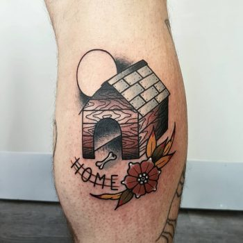 Dog house by @rabtattoo