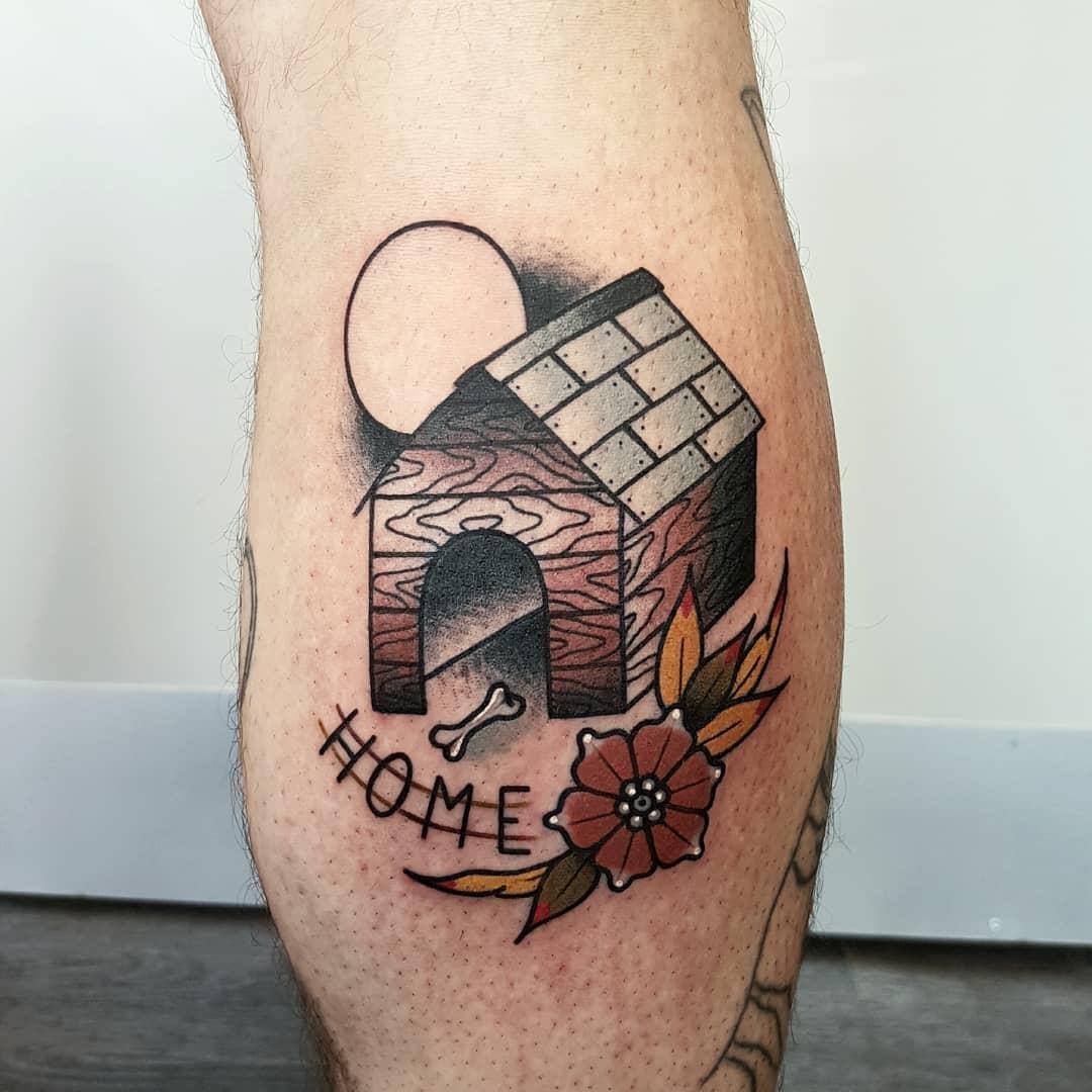 Dog house by @rabtattoo