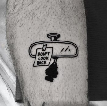 Don't look back tattoo by @nancydestroyer