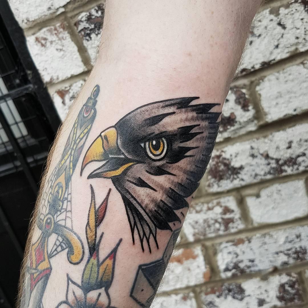 Eagle head by @rabtattoo